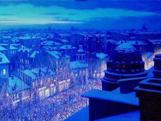 обои Ночной город фото