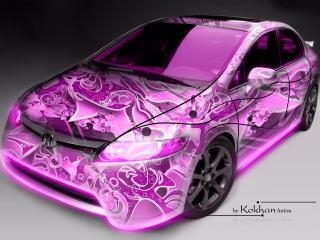 обои Авто абстрактный фиолетовый фото