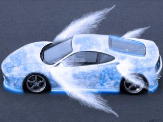 обои Авто ангел белый фото