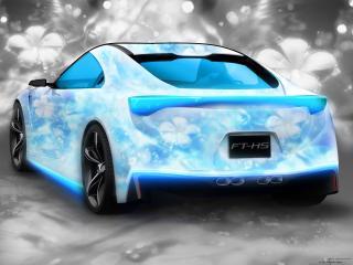 обои Авто бело-голубой цветочный бриз фото