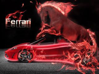 обои Авто красный конь фото