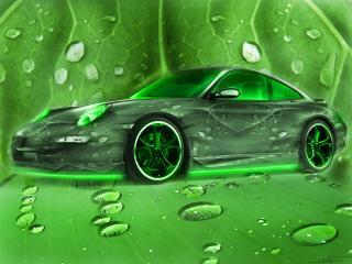 обои Авто лепесток в росе фото