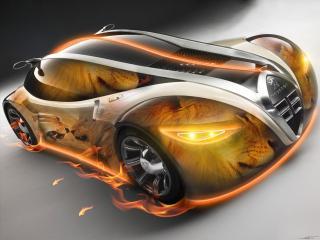 обои Авто огненный лев фото