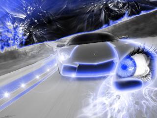 обои Автомобиль глаз голубой фото
