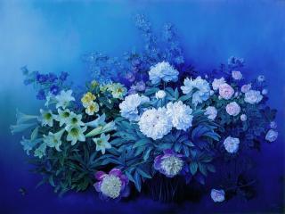 обои Пионы,   лилии,   розы фото