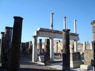 обои Вид уцелевшего Помпея фото