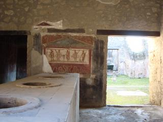 обои для рабочего стола: Помещение с настенными рисунками в Помпее