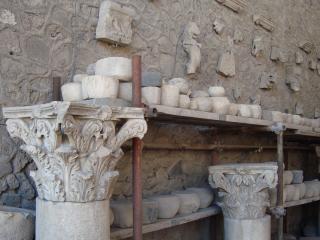 обои Экспонаты из разрушенного города Помпея фото