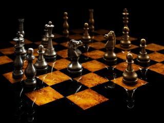 обои Шахматы с отражением фото