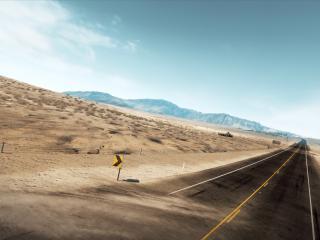 обои Дорога среди пустыни,   трасса фото