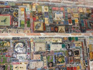 обои для рабочего стола: Колаж мозаик на здании