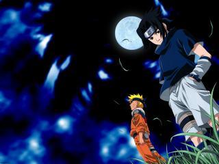 обои для рабочего стола: Naruto при свете луны