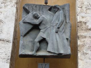 обои Рельеф на камне о жизни хреста спасителя фото