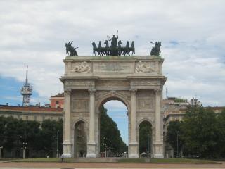 обои Арка в парке Милана фото