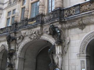 обои Архитектура зданий в старинном Дрездене фото