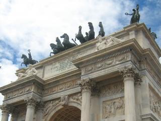 обои Гранитная арка мира в парке Семпионе, Милан фото
