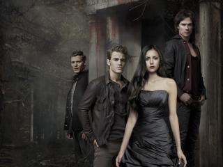 обои Вампиры и Елена фото