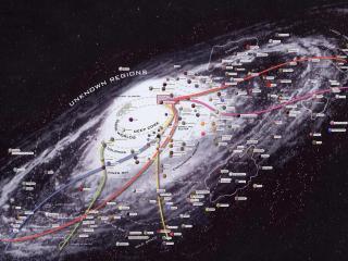 обои Карта неизвестных космических регионов фото