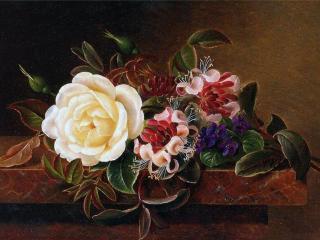 обои Букет цветов и листьев фото