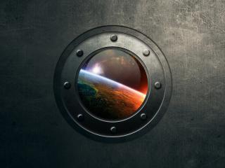 обои Космоса вид из иллюминатора фото