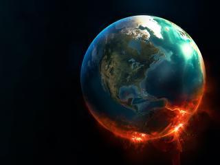 обои Планета земля в космосе фото