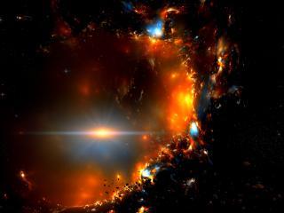 обои Свет сквозь дыру космическую фото