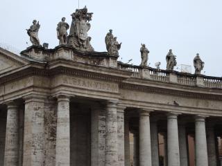 обои Колоннада на площади святого Петра в Риме фото