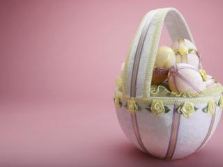 обои Кошелка пасхальных яиц фото