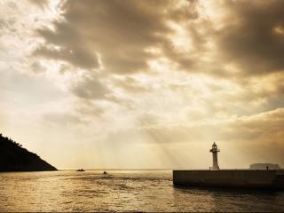 обои Маяк у моря фото