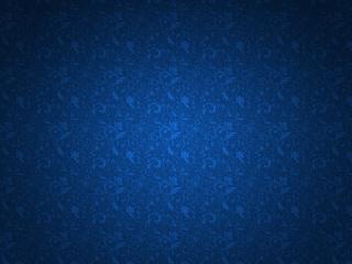 обои Синий фон с узорными завитушками фото