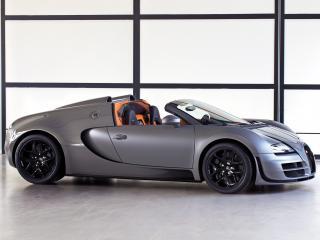 обои Bugatti Veyron Grand Sport Roadster Vitesse 2012 бок фото