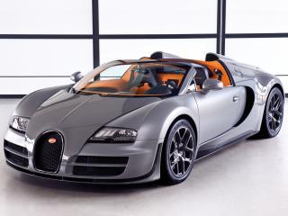 обои Bugatti Veyron Grand Sport Roadster Vitesse 2012 капот фото