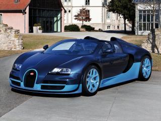 обои Bugatti Veyron Grand Sport Roadster Vitesse 2012 красивый фото