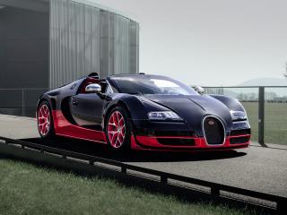 обои Bugatti Veyron Grand Sport Roadster Vitesse 2012 передок фото