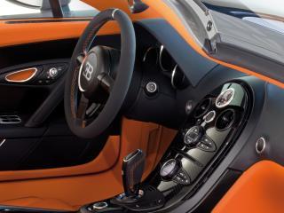 обои Bugatti Veyron Grand Sport Roadster Vitesse 2012 руль фото