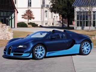 обои Bugatti Veyron Grand Sport Roadster Vitesse 2012 сбоку фото