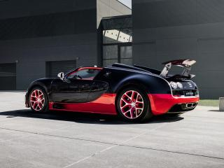 обои Bugatti Veyron Grand Sport Roadster Vitesse 2012 сила фото