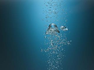 обои Пузырки воздуха поднимающиеся вверх фото