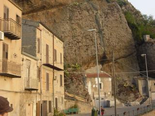 обои Дома и скалы в сицилии фото