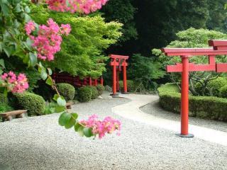 обои Аллея в японском парке фото