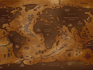 обои Графическая карта в коричневых тонах фото