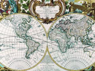 обои Илюстрированная карта в светлых тонах фото