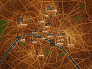 обои Карта города Париж фото