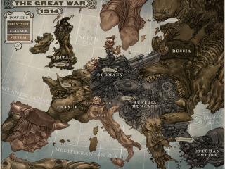 обои Карта Европы в карикатурах фото