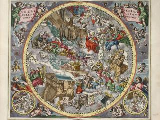 обои Карта звездного неба в созвездиях и рисунках фото