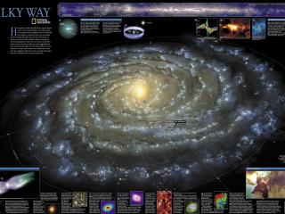 обои Карта космической туманности фото