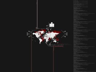 обои Графическая карта на черном фоне фото