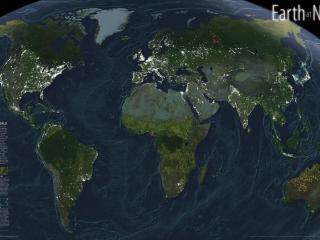 обои Карта земли и материков фото