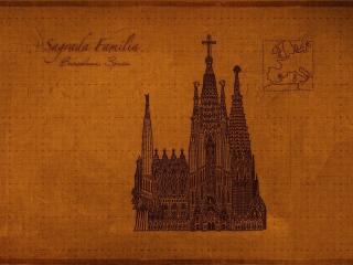 обои Карта Европы и церковь фото