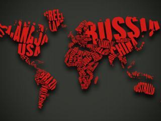 обои Карта из красных букв фото